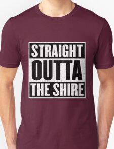 Straight Outta The Shire - Movie Mashup - Hobbit Homeboys - Nerd Humor - Hobbits T-Shirt