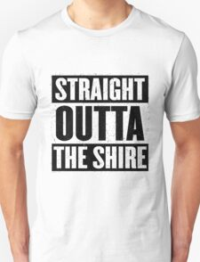 Straight Outta The Shire - Movie Mashup - Hobbit Homeboys - Nerd Humor - Hobbits T-Shirt