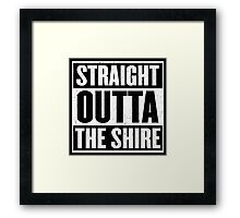 Straight Outta The Shire - Movie Mashup - Hobbit Homeboys - Nerd Humor - Hobbits Framed Print