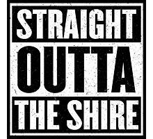 Straight Outta The Shire - Movie Mashup - Hobbit Homeboys - Nerd Humor - Hobbits Photographic Print