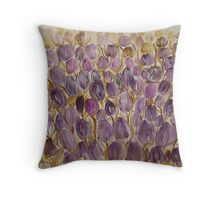 Crowd of tulips Throw Pillow