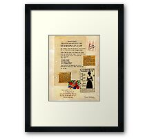 Velma's Pickles Framed Print