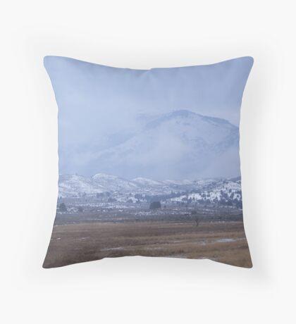 Winter Snowstorm on Bullrun Throw Pillow