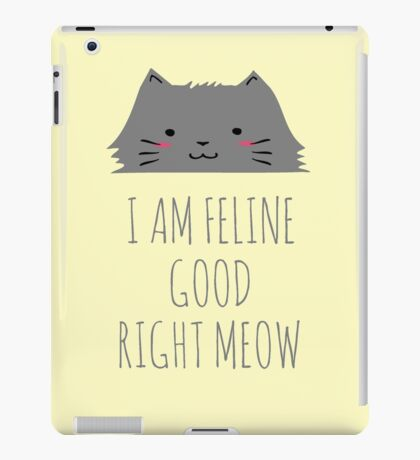 I am feline good right meow #2 iPad Case/Skin