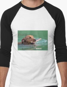 Happy Retriever Men's Baseball ¾ T-Shirt