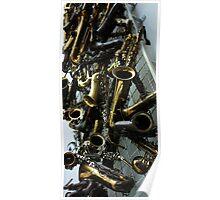 Saxophones. 2010 Poster