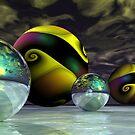 Yellow Swirls by Sandra Bauser Digital Art