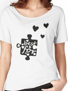 Best Friends Forever Connection Puzzle (left) Women's Relaxed Fit T-Shirt