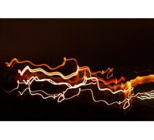 Abstract Streaking Lights Photographic Print