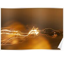 Abstract Streaking Lights Poster