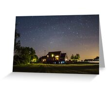 Stars over a Home Greeting Card