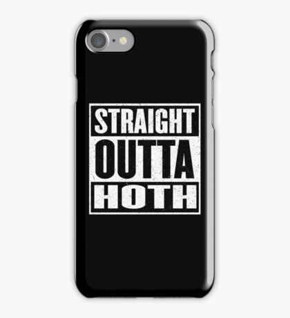 Straight Outta Hoth - Movie Mashup - Rebels in the Hood - Science Fiction Nerdy Humor iPhone Case/Skin