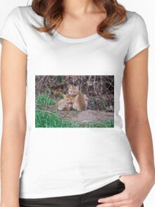 Fox Kit 7 Women's Fitted Scoop T-Shirt