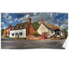 Thatched cottages of Halse Poster