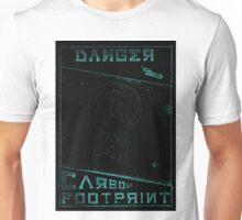 Danger, Carbon Footprint ( ii ) Cyan Blackout Unisex T-Shirt