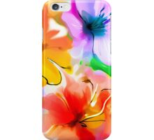 Bunch of flowers. Watercolor iPhone Case/Skin