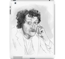 Kurt Vonnegut portrait grayscale iPad Case/Skin