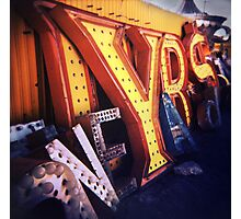 Neon Boneyard  Photographic Print