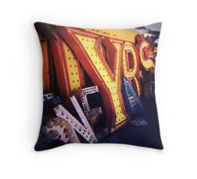 Neon Boneyard  Throw Pillow