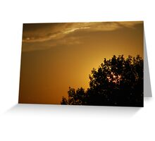 Late Evening Rooftop - Parker, Colorado Greeting Card