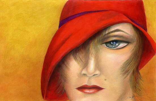 The Red Cloche by Alma Lee