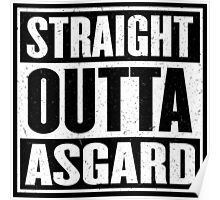 Straight Outta Asgard - Avenging the Hood - Movie Mashup - Geek Humor & Comics Poster