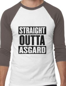 Straight Outta Asgard - Avenging the Hood - Movie Mashup - Geek Humor & Comics Men's Baseball ¾ T-Shirt