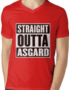 Straight Outta Asgard - Avenging the Hood - Movie Mashup - Geek Humor & Comics Mens V-Neck T-Shirt