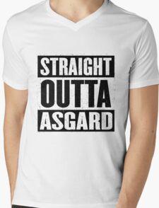 Straight Outta Asgard - Avenging the Hood - Movie Mashup - Geek Humor & Comics Mens V-Neck T-Shirt