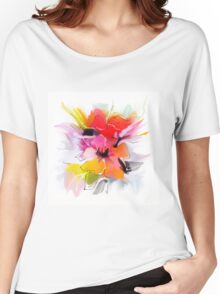 Bunch of flowers. Watercolor  Women's Relaxed Fit T-Shirt