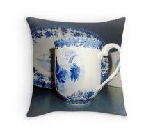 Blue & White pattern -Cockerell Throw Pillow