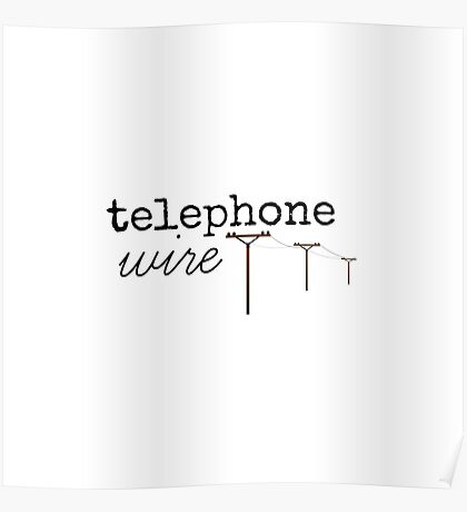 Telephone Wire Poster