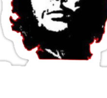 Che White on Black Sticker