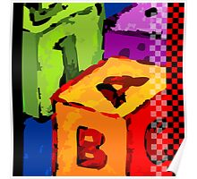 Colourful cubes  Poster