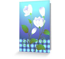 Eagerness of the flowers blooming out Greeting Card
