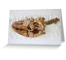 Dinosaur fossil Greeting Card