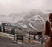 Snowing on the summit by Liz Percival