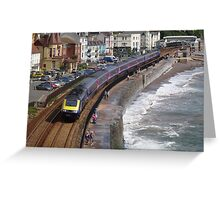 First Great Western 43192 at Dawlish Greeting Card