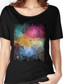 romantic pattern with roses  Women's Relaxed Fit T-Shirt