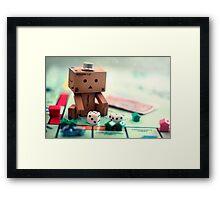 Danbo Learns Monopoly Framed Print