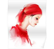 Fashion woman profile portrait  Poster