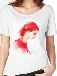 Fashion woman profile portrait  Women's Relaxed Fit T-Shirt
