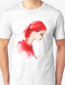 Fashion woman profile portrait  Unisex T-Shirt
