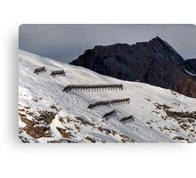Winter on Kitzsteinhorn 48 Canvas Print