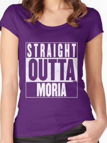 STRAIGHT OUTTA MORIA Women's Fitted Scoop T-Shirt