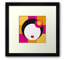 Geisha Girl in Squares Framed Print