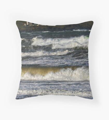 Scrabster, Thurso, Caithness, Scotland Throw Pillow