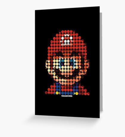 Mario - Pictodotz Greeting Card