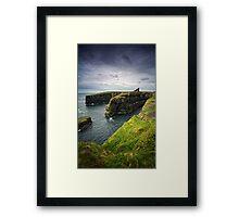 Old Wick Castle, Caithness, Scotland Framed Print