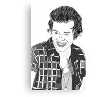 Harry Styles Outline Sketch Canvas Print